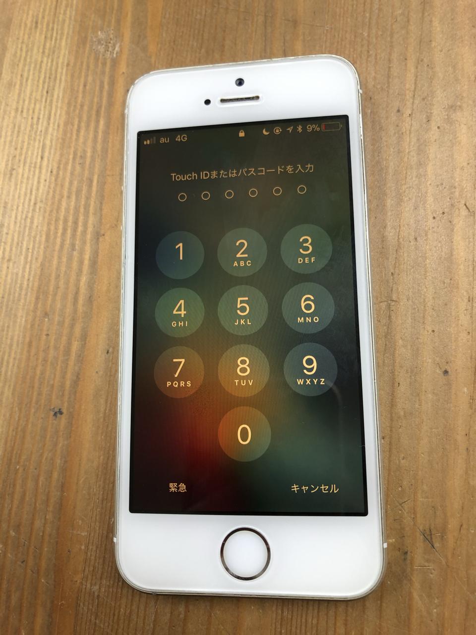 修理前:iPhoneSE バッテリー交換